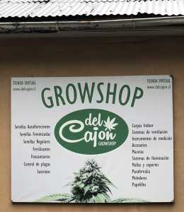 Cannabis in Chile - grow shop