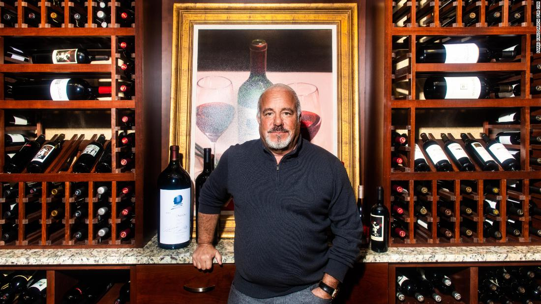 Sands poses for a portrait in a wine cellar at Constellation Brands' headquarters in Victor, New York.