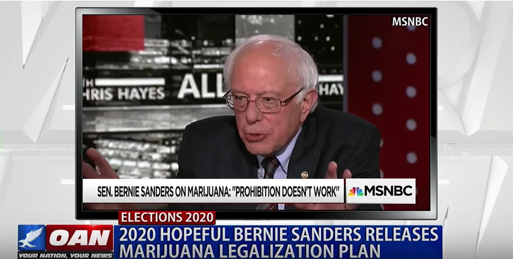 Video: 2020 Hopeful Bernie Sanders Releases Marijuana Legalization Plan